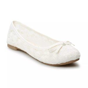 SO Shoes - SO Lacy White Ballet Flats 9.5 (NWT)